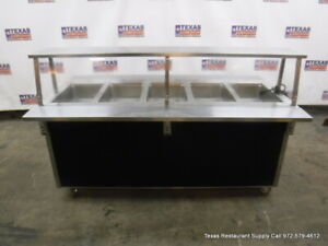 Vollrath 37050 00002 cnb 74 Electric 5 Well Steam Table With Casters