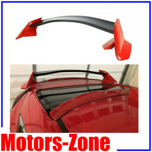 Painted Rally Red For 16 20 Honda Civic Hatchback Spoiler Type R Style