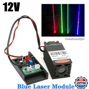 Focusable 450nm 2w Blue Laser Module W Ttl Driver Board For Analogue Carving