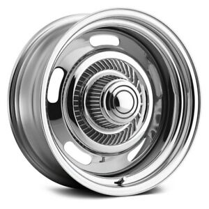Vision 57 Rally Wheels 15x4 0 5x120 65 81 7 Chrome Rims Set Of 4