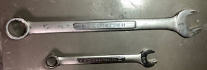 Lot Of 2 Craftsman Large 12pt Combination Wrenches 1 5 8 Vv 44705 Vv 44697