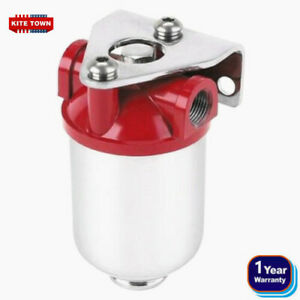 New Red Painted chrome Aluminum Street Rod Fuel Filter For Professional 10102