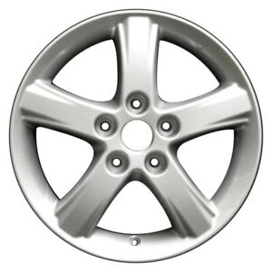 For Mazda Protege 02 03 5 spoke Silver 16x6 Alloy Factory Wheel Remanufactured