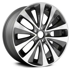 For Acura Mdx 14 16 Alloy Factory Wheel 5 V spoke Gray W Machined Spoke Face