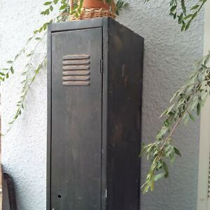 Antique World War 2 Era Metal Green School Gym Locker Storage Industrial Wear