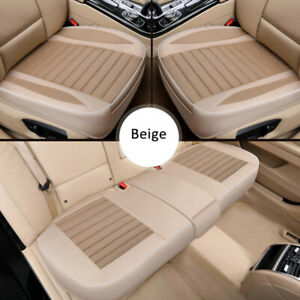 Luxury Universal Car Front Back Seat Cover Flax Cushion Breathable Protection