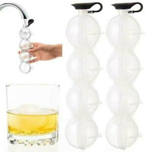 Bar Ice Cube Maker Mold Sphere Large Tray Whiskey Diy Mould 4 Ball