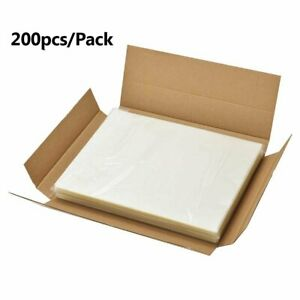 200 Clear Heat Laminating Pouches 3 Mil Letter Size 9 X 11 5 Round Corner