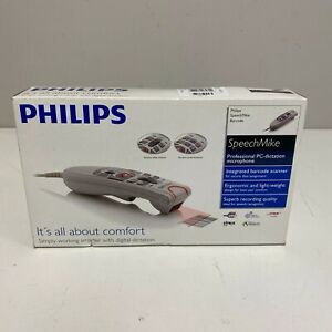 Philips Lfh 5282 Speechmike Barcode Scanner Pc Dictation Microphone New