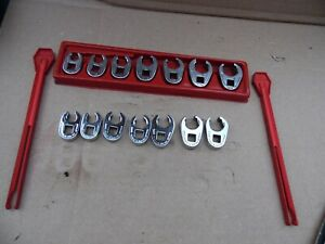 Snap On 14 Pc 3 8 Drive Crow Foot Wrench Set Sae Frh 3 8 3 4 Metric Frhm10 16