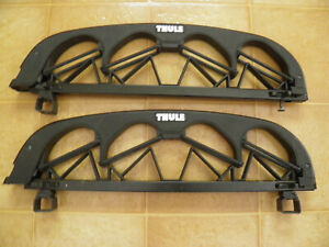 Thule 586 Angled 4 Pair Ski Carrier 586 Roof Rack Square Bar Mounts 1 Missing
