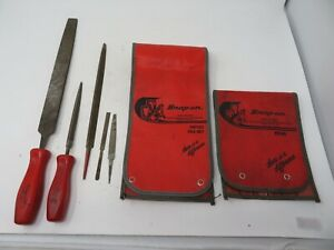 Snap on Tools Hand Files Hf 616 And Hf 614 With Two Sheaths
