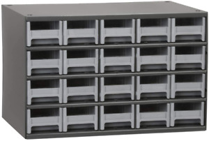 20 drawer Steel Parts Craft Storage Cabinet Hardware Organizer 19320 Grey