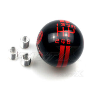Gear Shift Knob Manual 6 Speed Red For Ford Mustang Refit Cobra Shelby Gt500