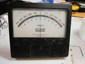 Fluke Center Zero Dc Volt Panel Meter Weston 1946