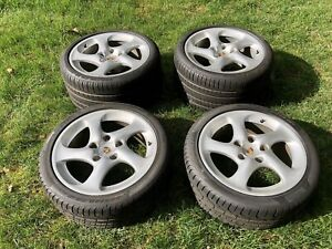 Set Of 4 Oem Wheels And Tire 18 For A Porsche 911