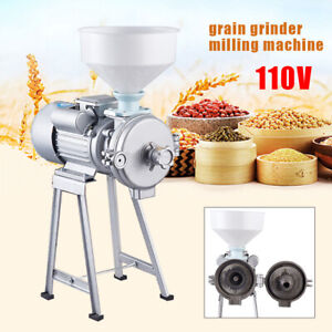Wet dry Electric Grinder Mill Corn Grain 2200w 110v Wheat Feed flour Cereals Usa