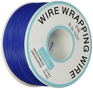 Breadboard P n B 30 1000 Tin Plated Copper Wire Wrapping 30awg Cable 305m Blue