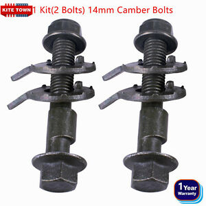 2 Bolts Front Left Right Camber Alignment 14mm Adjustable Cam Bolts Kit