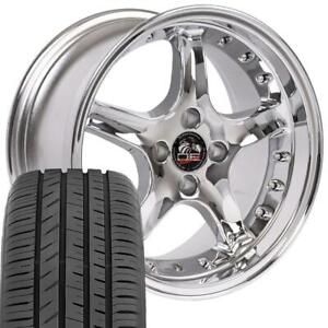 17 Rims Fit 4 Lug Mustang Cobra R Style Chrome Wheels Toyo Proxes Tires