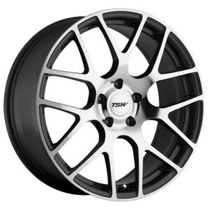Staggered Tsw Nurburgring F 18x8 R 18x9 5 5x120 Gunmetal Mirror Wheels Rims