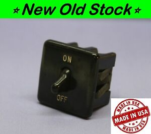 Vintage Leviton Bakelite Double pole Dpst Snap in Toggle Switch 10a 1 4hp