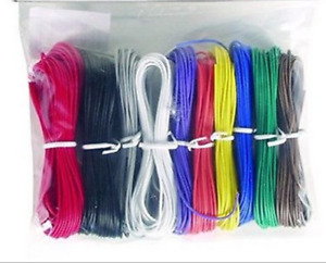 Wk 1100bkx Hook up Wire stranded 22 Awg 100 Ft 10 Assorted Colors made In Usa