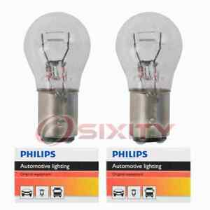 2 Pc Philips Brake Light Bulbs For Pontiac 6000 Acadian Bonneville Fiero Va
