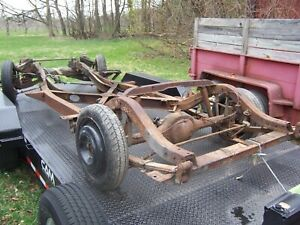 1962 Chevy Corvette Rolling Chassis Frame With Positraction 1961