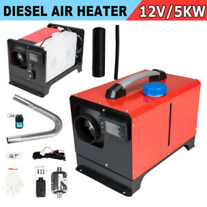 Diesel Air Heater 5kw One Hole Lcd Switch All In One For Cars Trucks Rv 12v