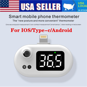 Non Touch Mini Usb Smart Mobile Phone Thermometer Infrared Temperature Meter Us