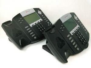 Lot Of 2 Polycom Soundpoint Ip550 506 10 4036 Base With Stand