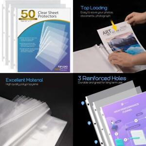 Ktrio Sheet Protectors 8 5 X 11 Inches Clear Page Protectors For 3 Ring Binder