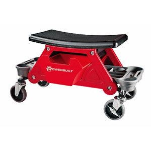 Powerbuilt Heavy Duty Roller Mechanics Seat And Brake Stool With 4 In Rubber