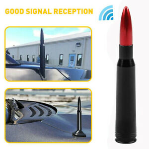 50 Cal Red Bullet Antenna Heavy Gauge Cnc Machined Billet Short For Ford F150