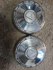 1967 1968 1969 Plymouth Valiant Poverty Dog Dish Hubcaps Set Of 2