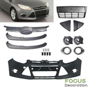 For 2012 13 14 Ford Focus Front Bumper Cover Front Grille Fog Lights Assembly