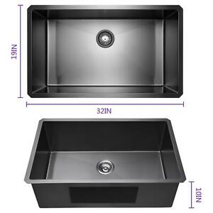 Stainless Steel 32 19 10 Sink Wall Mount Kitchen Hand Washing Sink Commercial