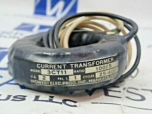 Midwest Electric 3ct11 Current Transformer Ratio 100 5 V a 2 Pri 1 Cycle 25 400