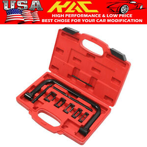 For Car Motorcycle Black 5 Sizes Valve Spring Compressor Pusher Tool Automotive