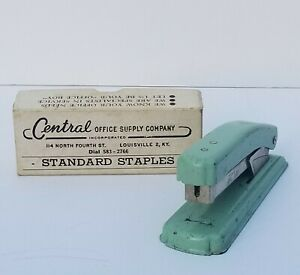 Vintage Jet 170 Stapler Aqua Staples Central Office Supply Co Louisville Ky