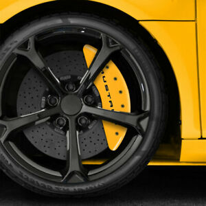 Front Rear Yellow 3 7 Caliper Covers For 2015 20 Ford Mustang Ecoboost By Mgp