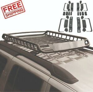 Heavy Duty Roof Rack Cargo Carrier Universal Mount Basket Storage Luggage Holder