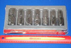 New Snap on 7 Pc 1 2 Drive 6 point Metric Flank Drive Shallow Impact Swivel Set