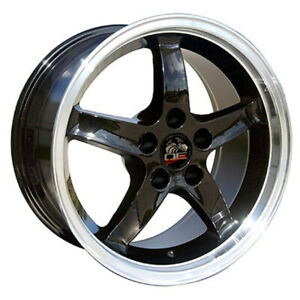 Black Wheel 17x9 W mchd W 24mm Offset For 94 04 Mustang Owh0769