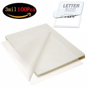 100 Heat Seal Laminating Pouches 3 Mil Letter Size 9 X 11 5 Round Corner Sheet
