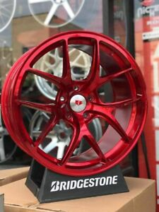 20x8 5 W005 Et35 5x114 3 Cb73 1 Red Tuner set Of 4