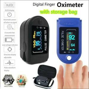 Finger Pulse Oximeter Blood Oxygen Saturation Spo2 Heart Rate Patient Monitor Us