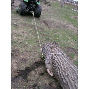 Log Choker Cable 15 Ft With Tow Rings For Atvs Utvs And Lawn Tractors Accessory