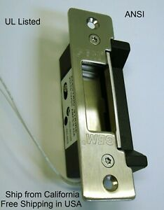 Electric Door Strike no nc 12vdc New Free Shipping In Usa
